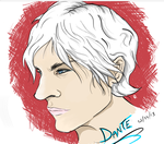 Dante Bust by fire-bound