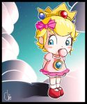 Peach over Clouds by KrisCG