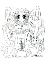 aW - Ellana and Nook lineart by ellana