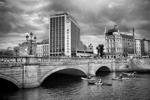 The Liffey Canoe Race by Pajunen