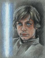 Luke Skywalker portrait by barbaramj