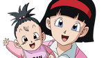 Dragonball Pan and Videl Lineart Farbig by WallpaperZero
