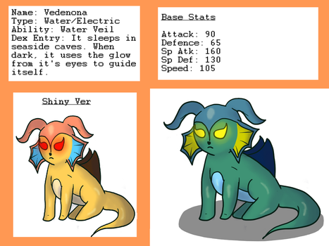 Fakemon - Vedenona by fearbronze