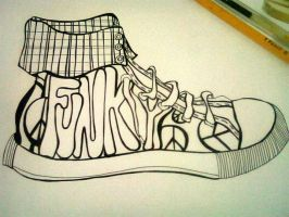 My funky Shoe by enigma-cross12