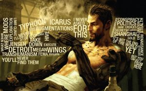 Adam Jensen Typography by clubbing-claude