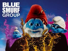 Blue Smurf Group by Brandtk