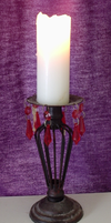 Glowing White Candle on Stand by DarkenedHeart-Stock