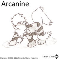 Arcanine Sketch by NS-Games