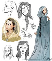Greenwood the Great Royalty : Queen sketches by MarineElphie