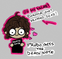 Frodo Gets the Death Note by samekh-mem