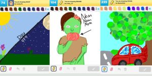 Draw Something!!! (Day 134) by Hedwigs-art