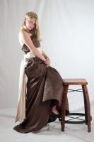 Brown Prom Dress by Della-Stock