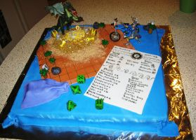 Gaming Cyclist cake by Jennfrog