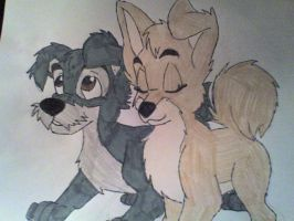 Scamp and Angel by eskie02