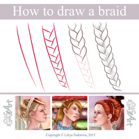 How to draw a braid by LilyT-Art