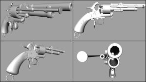 Le Mat Revolver WiP by GrimmWrecking