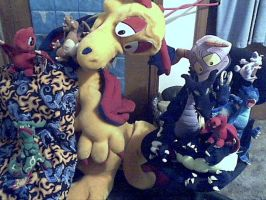 My Dragon plushie collection by Salem-the-Psychic