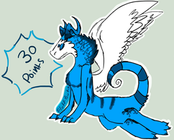 30 point winged Stizzle adoptable CLOSED by Fluffbutt-Adopts
