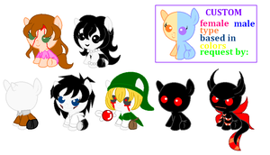 Creepypasta Ponies Adoptable 10 points 1/7 by ITZELDRAG108