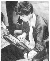 Paul playing with a cigarette by Macca4ever