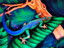 Fluor Gecko Close up by Balticdragon