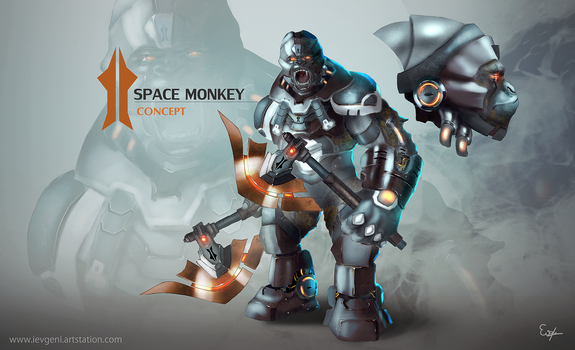 Space Monkey Concept by iEvgeni