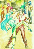 Saint Seiya- Training Battle by Sakurita94