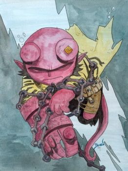 Chibi-Hellboy: Third Wish. by hedbonstudios