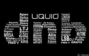 Liquid Drum and Bass Wallpaper by Pedwiik