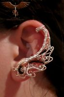 Filigree wing ear cuff by alina-loreley