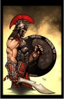 Hoplite, Argos soldier by Kid-Destructo