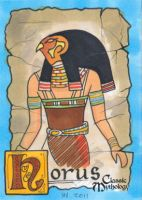 Horus Sketch Card - Ingrid Hardy by Pernastudios