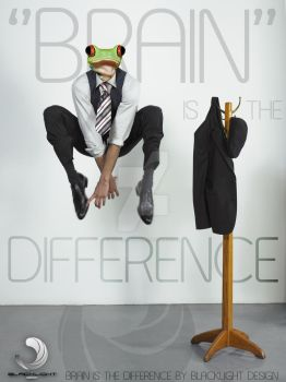BRAIN IS THE DIFFERENCE 2 by BLACKLIGHT8