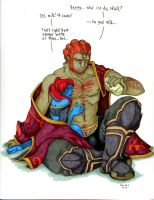 Twili getting Ganondorf drunk by Warlord-Pickle