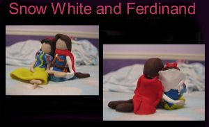 Snow White and Ferdinand- clay by ProtectorKorii