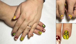 How the Grinch Stole Christmas Nails by elvaniel