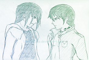 OC Clash: Hirou vs Eigo by UmedaIsao