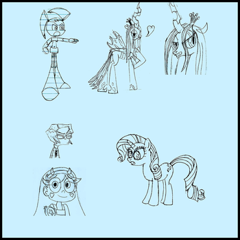 Some Shitty Sketch Dump by atomicalicorn