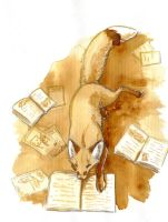 fox and books by wiltvanc