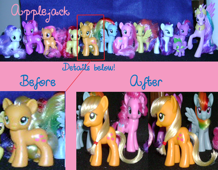 My Little Pony Restyling: Applejack by ShyraWolf