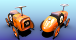 -Toy Ride On Car- (View-on-Sketchfab!) by LewisVeasey