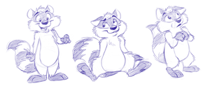 Some raccoons by crazyyellowfox
