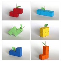 Tetris Fruit Papercraft by Skele-kitty
