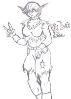 Valo The Goblin WIP Sketch 2 by SpaceRanger108