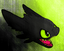 Toothless by gobixhoukou