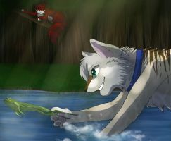 Catching Frogs by RiverSpirit456