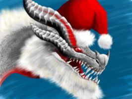 White Fatalis Christmas by DarkmaneTheWerewolf