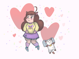 Bee and Puppycat by fishbowlspace