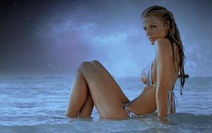 Night With Brooklyn Decker Wallpaper by iamsointense