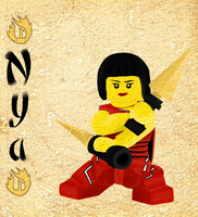 Ninjago Nya by jazzlovessilkies